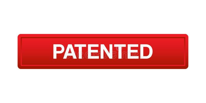 给予专利的按钮 向量例证