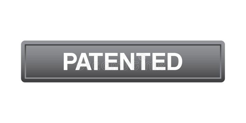 给予专利的按钮 皇族释放例证