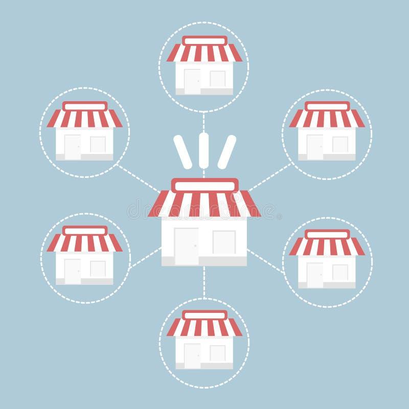 给予事务,传染媒介illustion平的设计样式特权 库存例证
