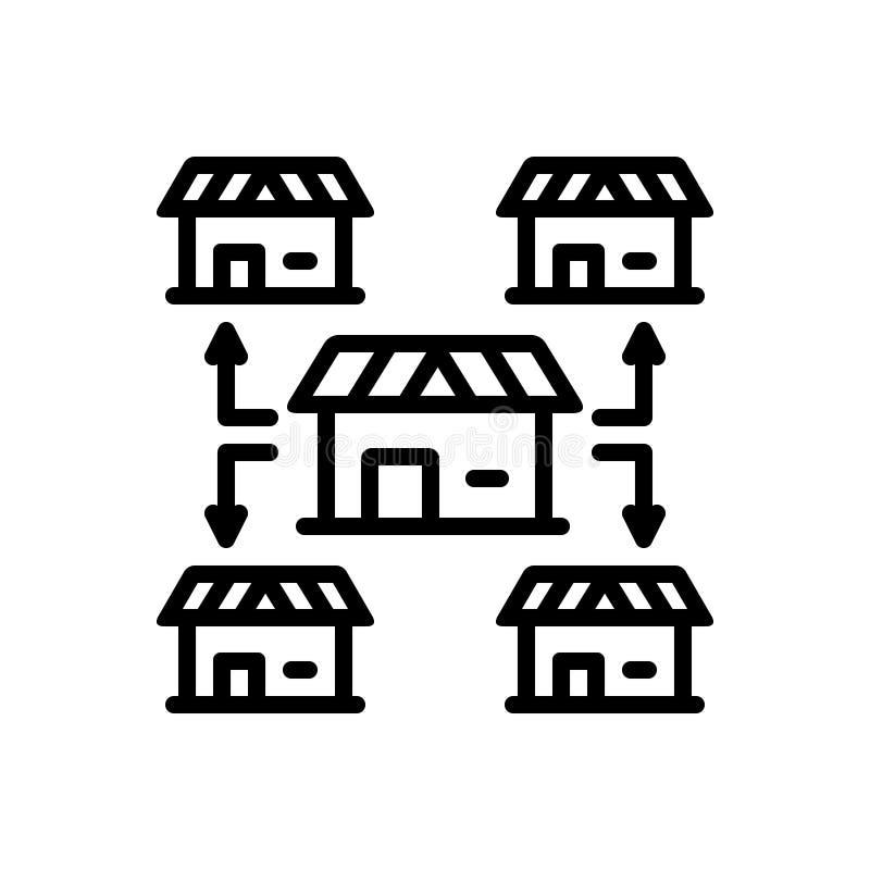 给予特权,机会和房子的黑线象 库存例证