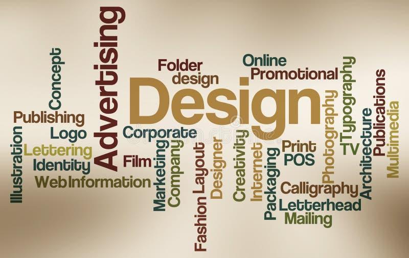 给云彩设计字做广告 库存例证