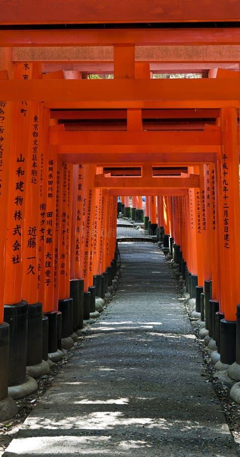 给京都花托装门 免版税库存图片