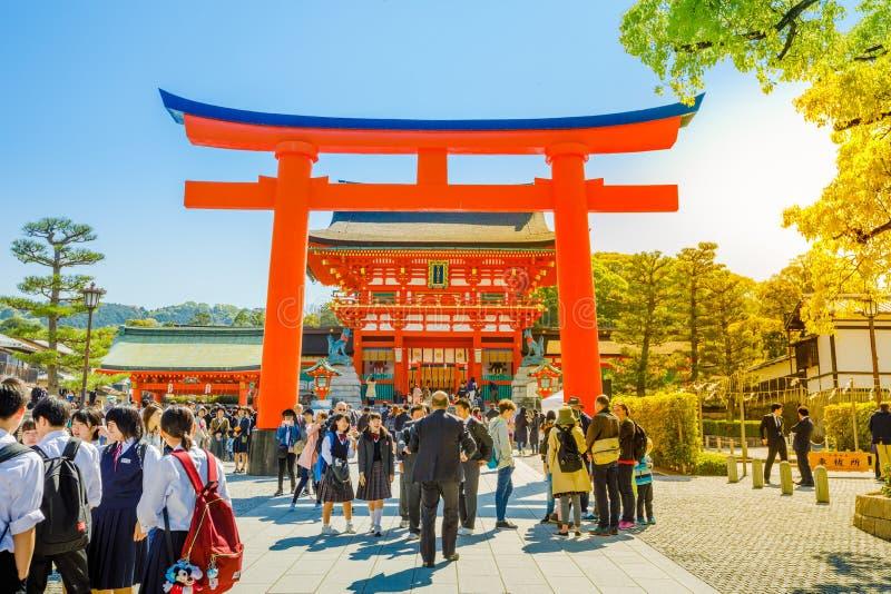 给京都torii装门 库存图片