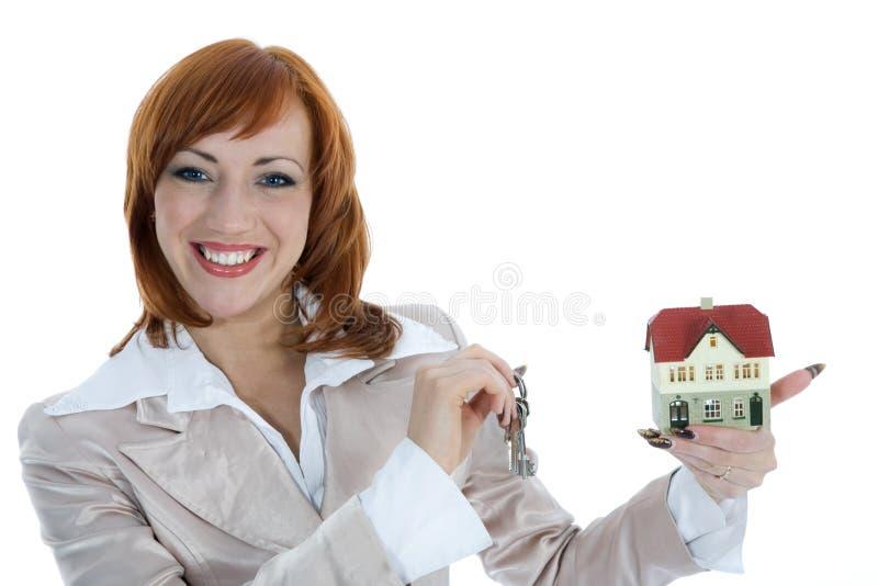 给企业庄园真正的女人做广告 库存照片