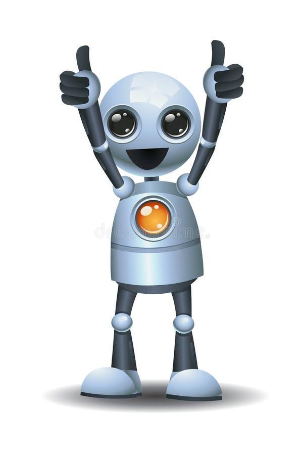 给双重赞许的小的机器人 向量例证