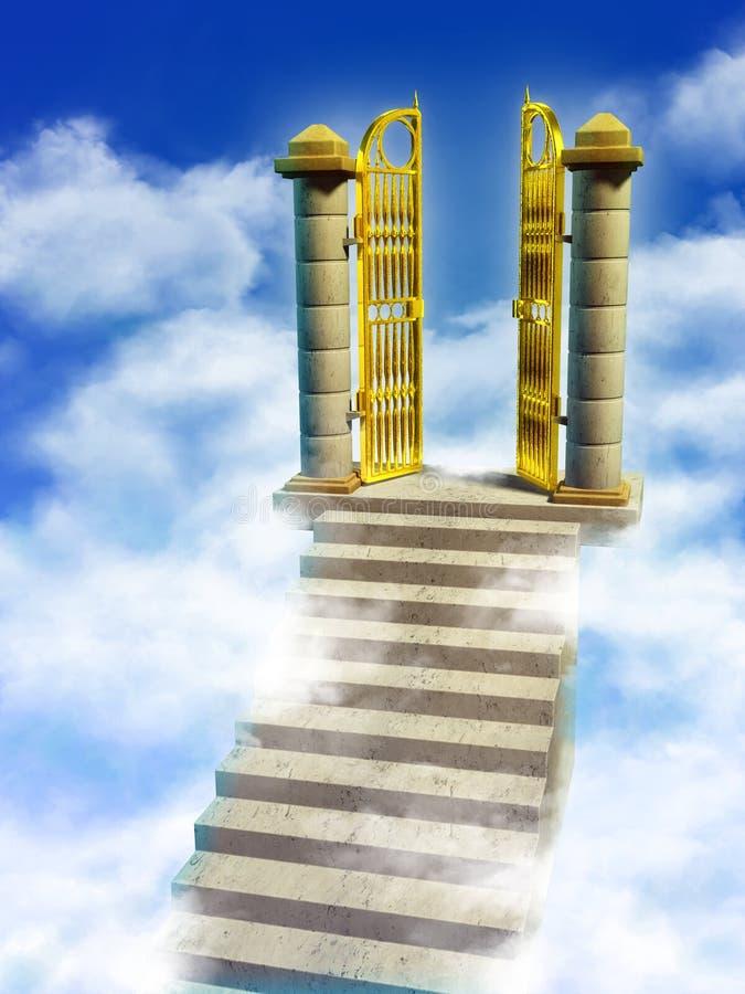 给天堂装门 皇族释放例证