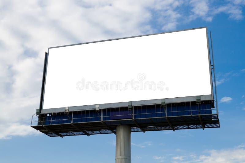 给室外的广告牌做广告 免版税库存图片