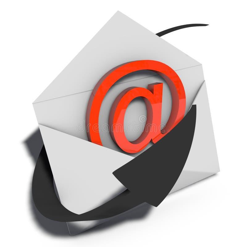 给市场营销发电子邮件 皇族释放例证