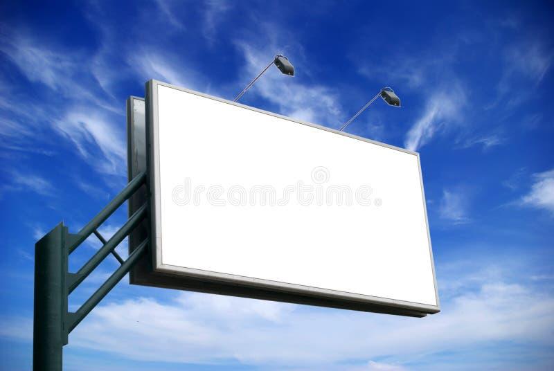 给广告牌做广告 免版税库存照片