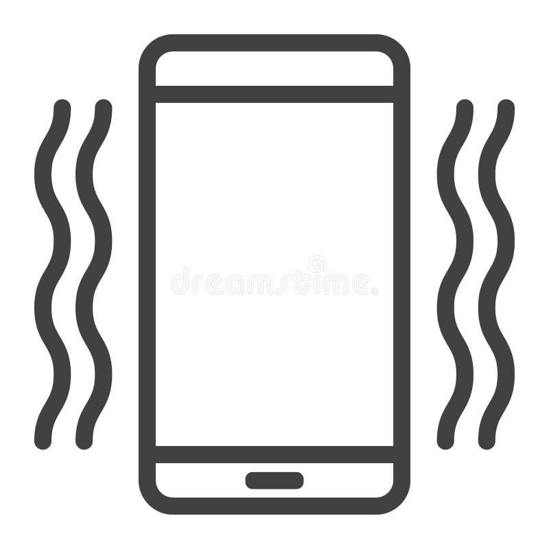 给振动的线象、网和机动性打电话 库存例证