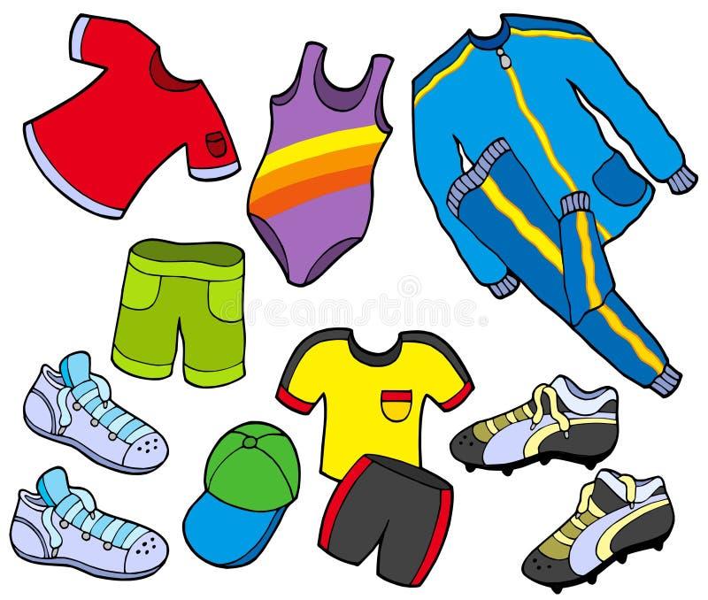 给收集体育运动穿衣 库存例证