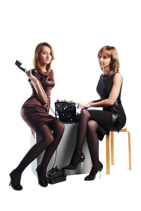 给新减速火箭的妇女打电话 免版税图库摄影