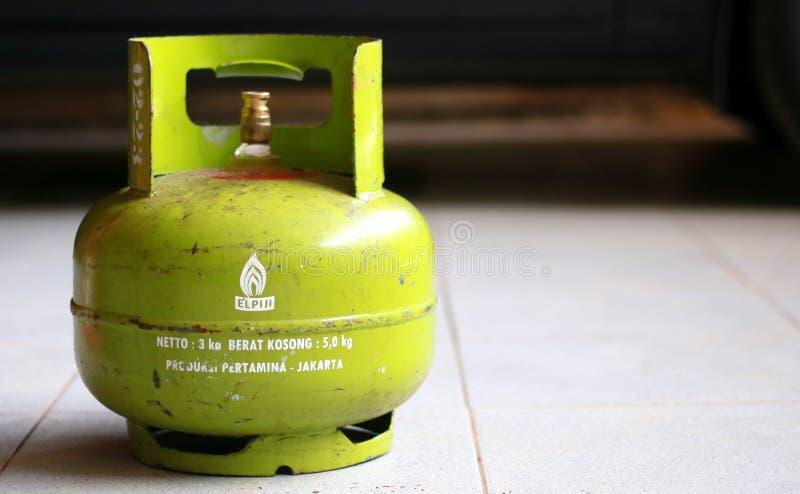 给津贴的3公斤液化石油气 免版税库存图片