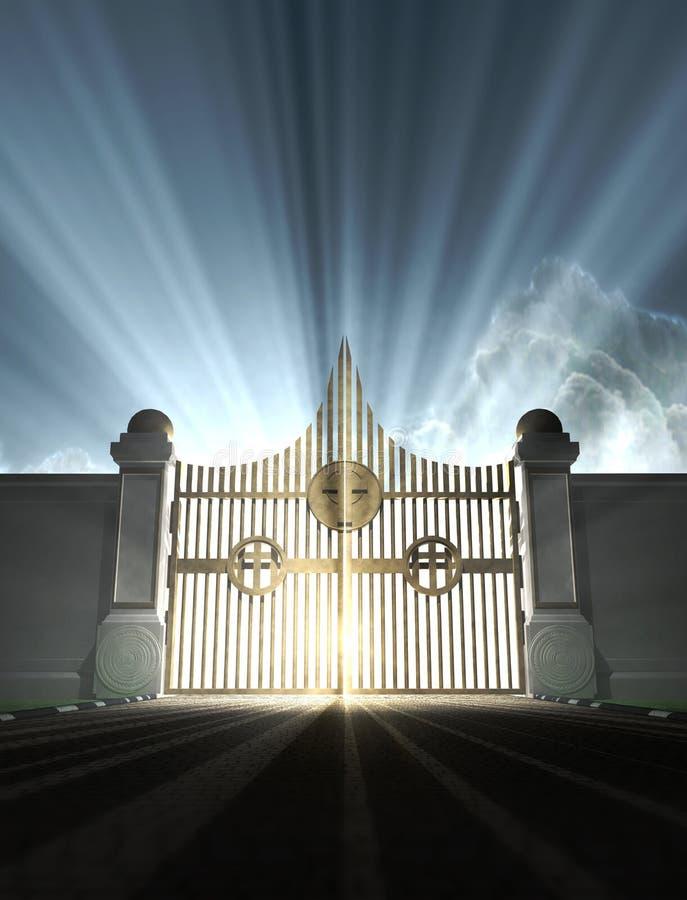 给珠色的天堂装门 皇族释放例证