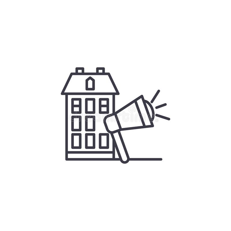 给的房地产线性象概念做广告 房地产广告线传染媒介标志,标志,例证 皇族释放例证