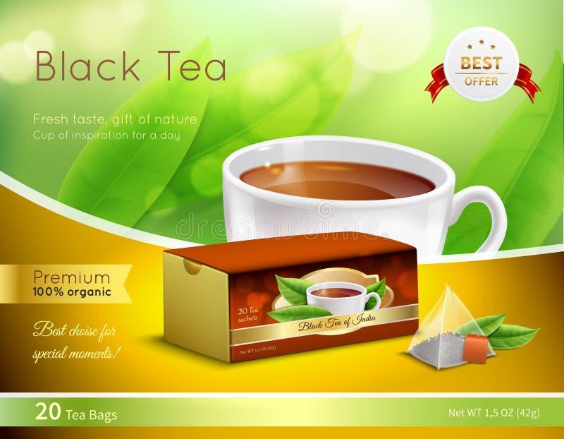 给的红茶现实构成做广告 库存例证