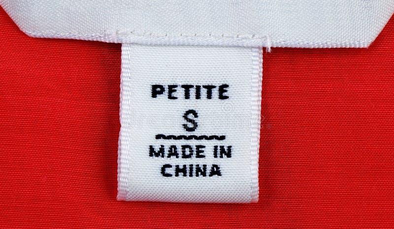 给穿衣的标签小的范围 免版税库存照片