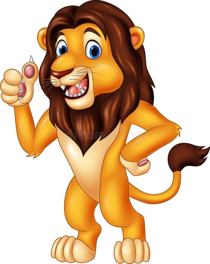 给赞许的动画片狮子 皇族释放例证