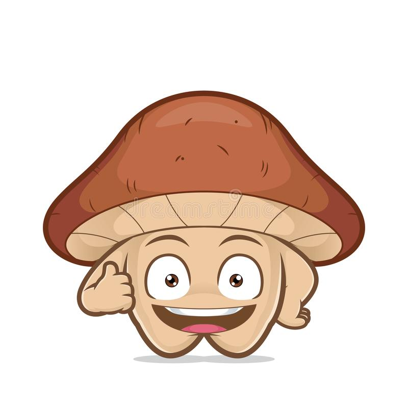 给赞许的蘑菇 向量例证