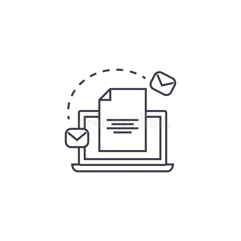 给销售系统传染媒介线象,标志,在背景,编辑可能的冲程的例证发电子邮件 皇族释放例证