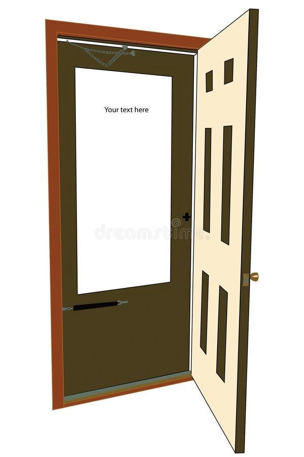 给门做广告 免版税库存图片