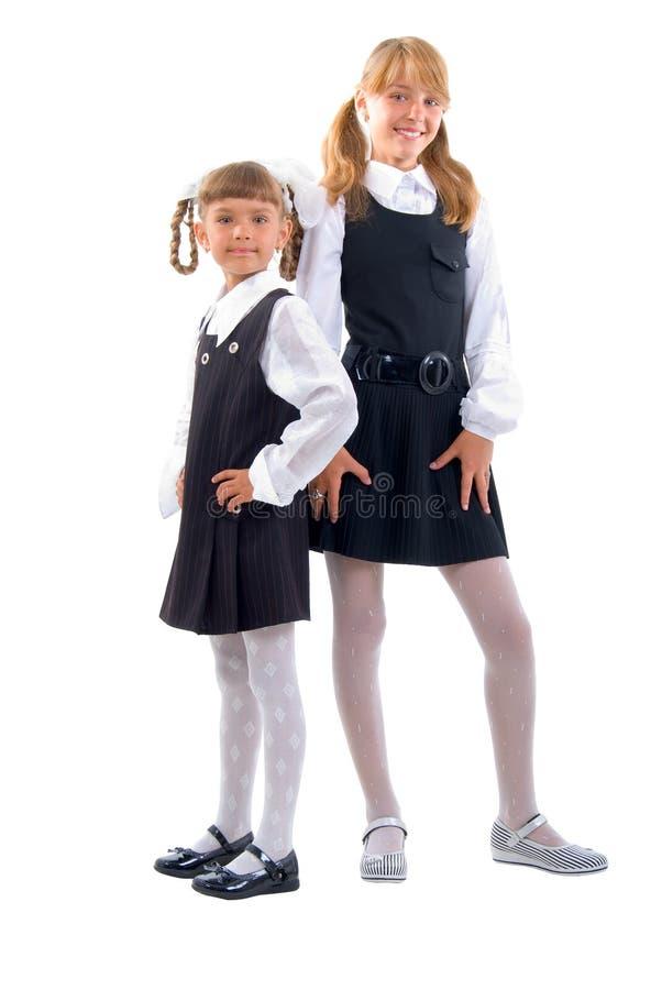 统一的女小学生 库存照片