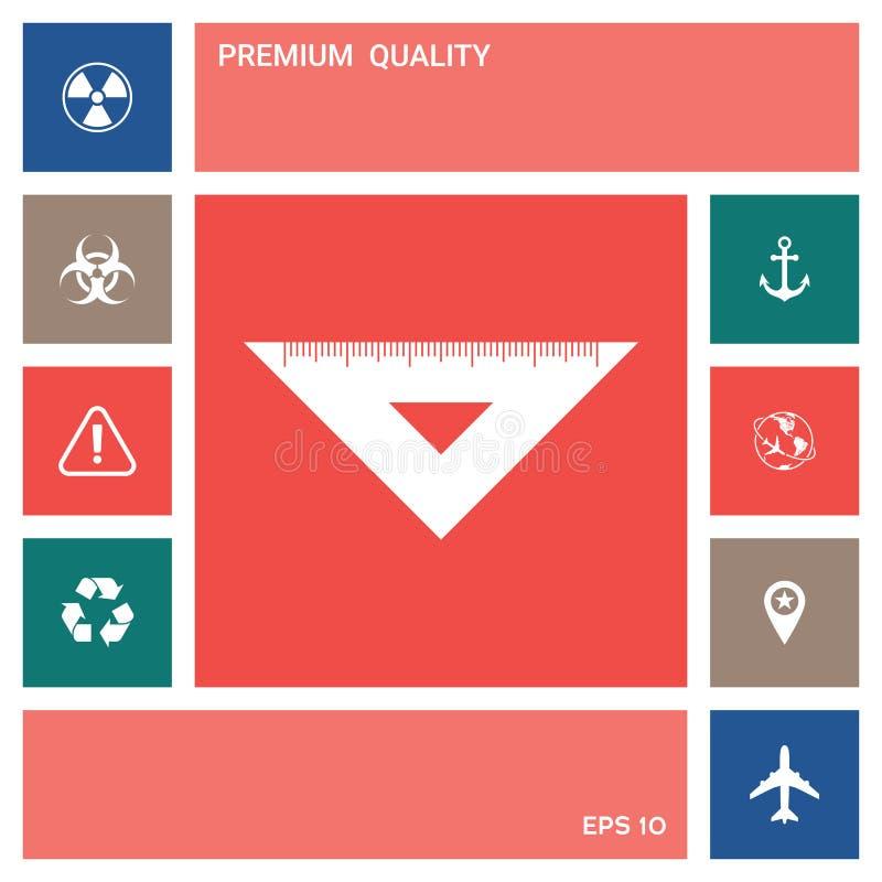 统治者三角象 设计要素更多我的图表的画廊图标请参见访问您 皇族释放例证