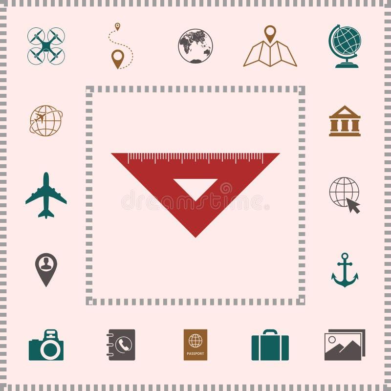 统治者三角象 设计要素更多我的图表的画廊图标请参见访问您 向量例证