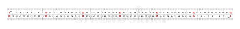 统治者双向双支持600毫米,60厘米 分裂价格是1 mm 定标栅格 库存例证