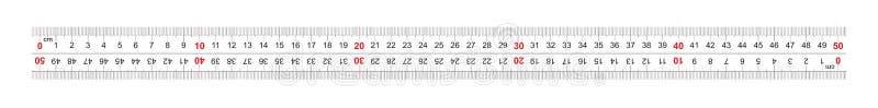 统治者双向双支持500毫米,50厘米 分裂价格是1 mm 定标栅格 向量例证