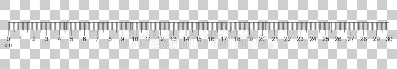 统治者在平的样式的30厘米象 米措施仪器 向量例证