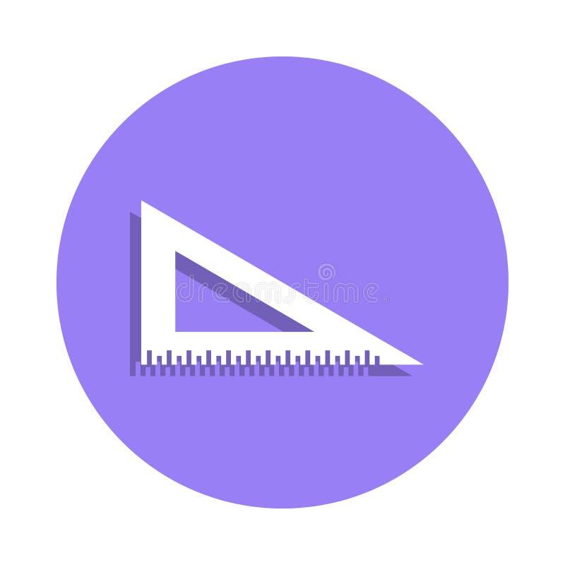 统治者在徽章样式的角度象 一手工制造汇集象可以为UI, UX使用 皇族释放例证