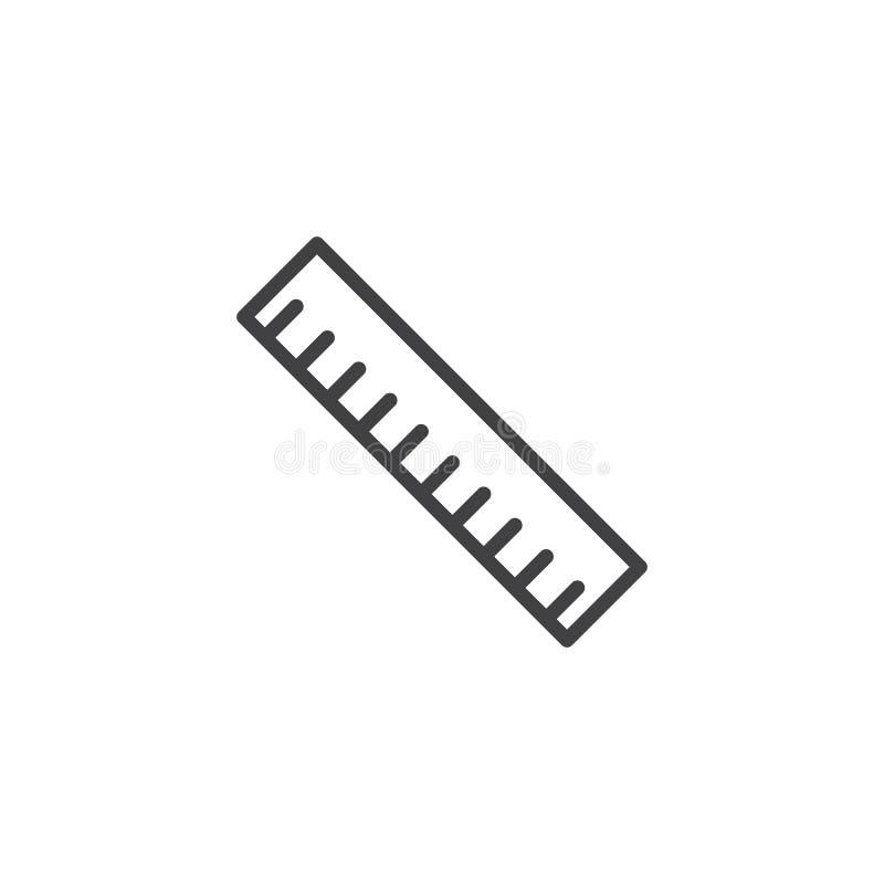 统治者工具线象 库存例证