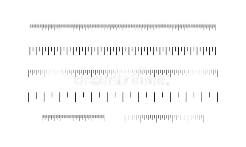 统治者设置了,英寸和厘米 刻度尺 向量例证