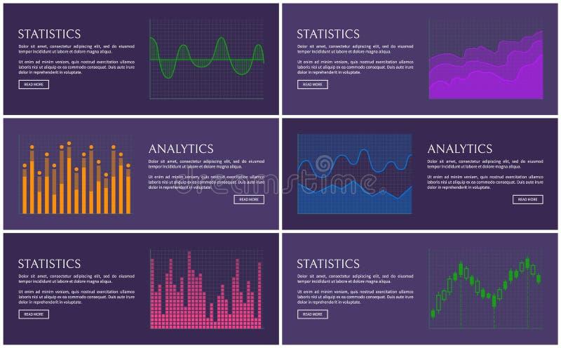 统计和逻辑分析方法海报,传染媒介图 向量例证