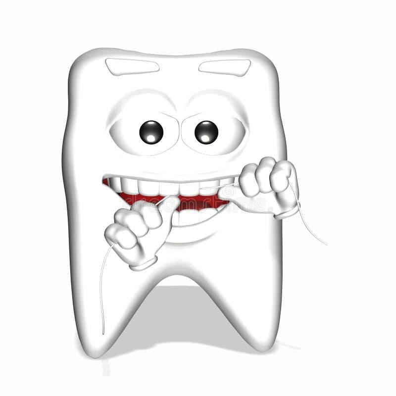 绣花丝绒切记面带笑容到牙 库存例证