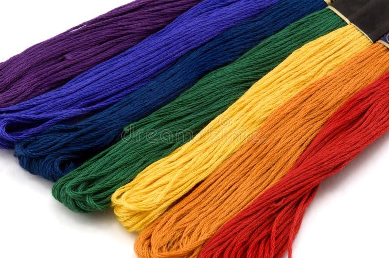 绣花丝绒水平的彩虹 库存图片