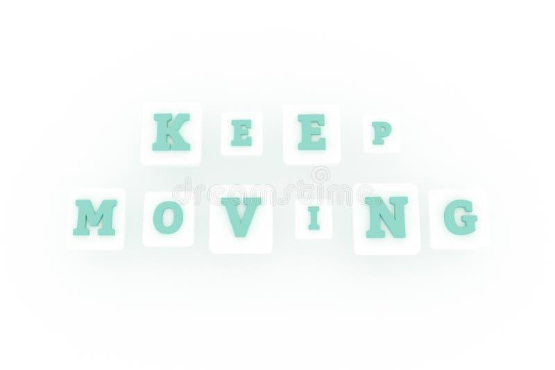 继续移动,刺激主题词 r 向量例证