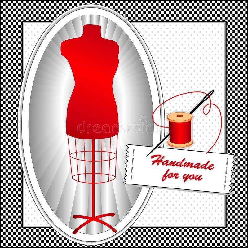 绯红色手工制造时装模特您 皇族释放例证