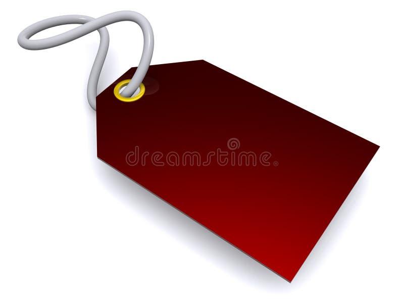 绯红色标签 库存例证
