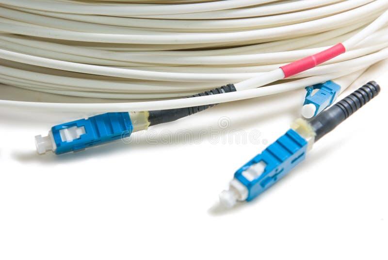 绳子光纤的补丁程序 库存图片