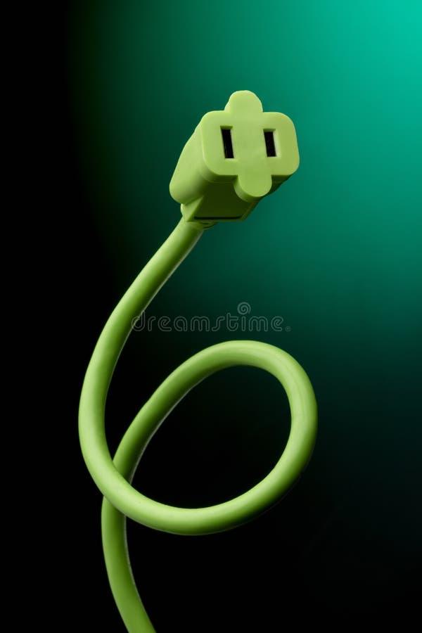 绳子电子绿色 图库摄影