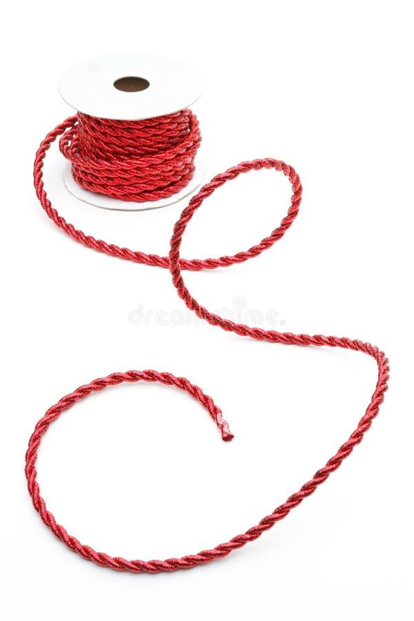 绳子红色卷轴 库存图片