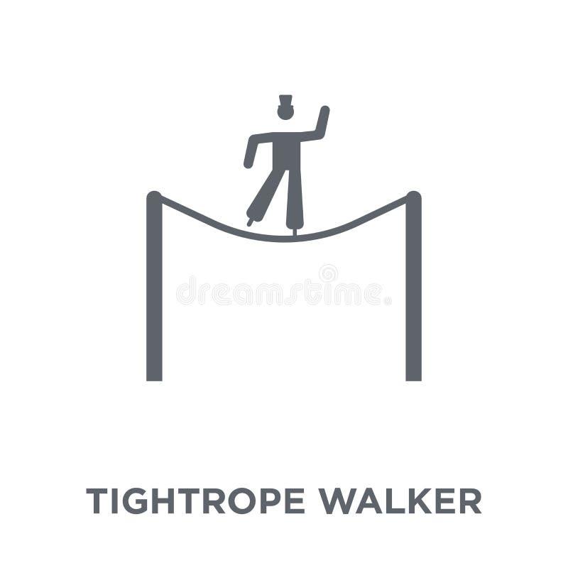 绳索从马戏汇集的步行者象 向量例证