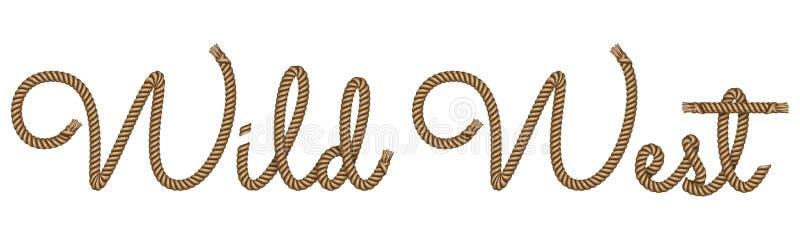 绳索手拉的字法 向量例证