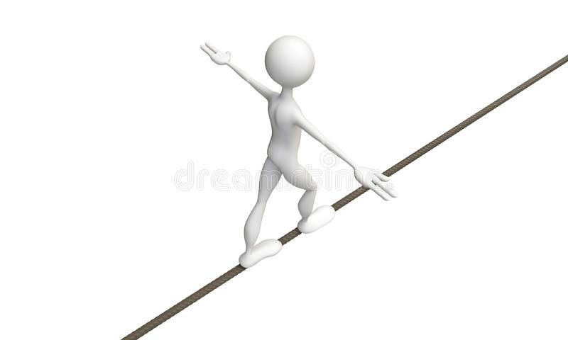 绳索步行者 向量例证