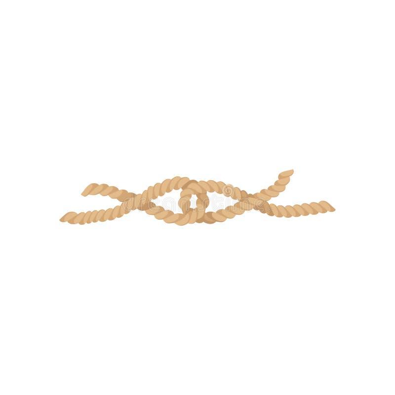 绳索结、黄麻或者大麻扭转的绳子传染媒介例证 皇族释放例证