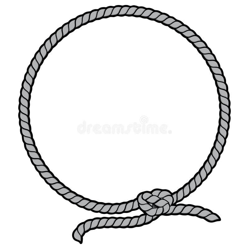 绳索边界套索例证 向量例证