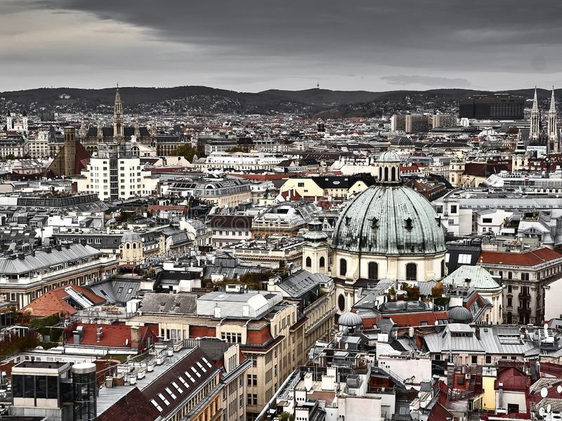 维也纳全景 免版税图库摄影
