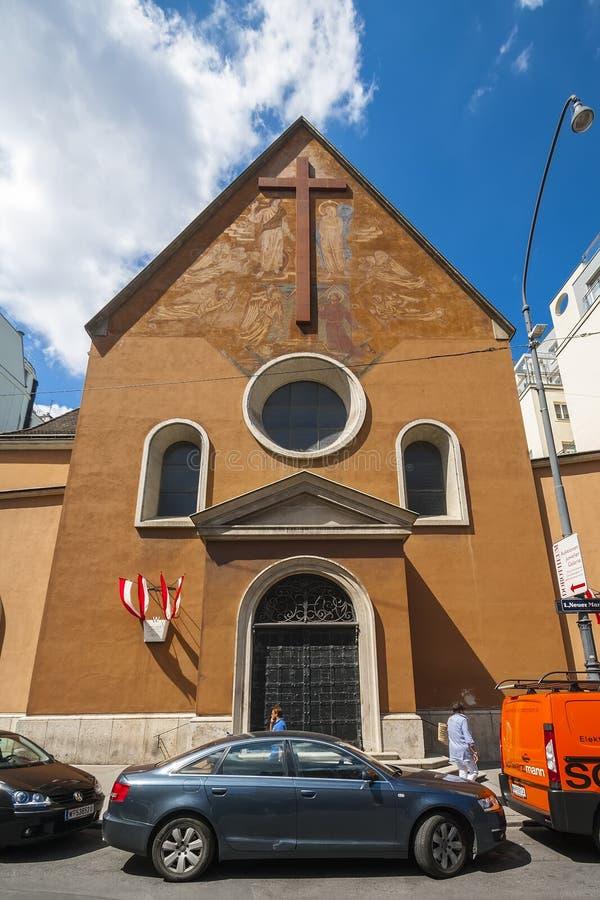 维也纳嘉布遣会教堂在维也纳 库存照片